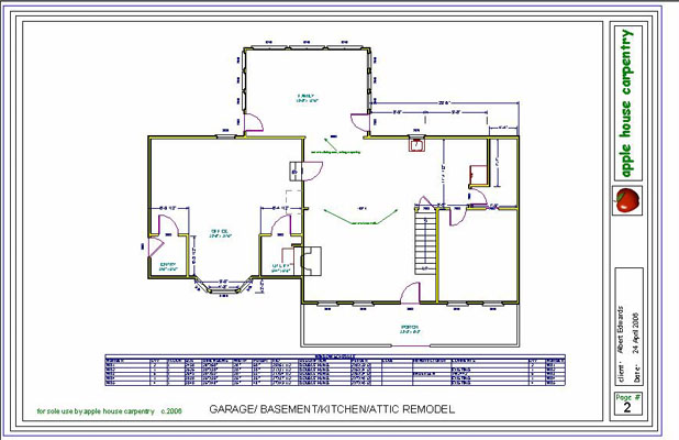 Interior Remodel Plans and Drawings